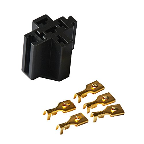 pack of 2 Car Truck Vehicle Relay Case Holder Ehdis/® 30A//40A 5 Pin Relay Connector Socket with 5 x 6.3mm Terminals
