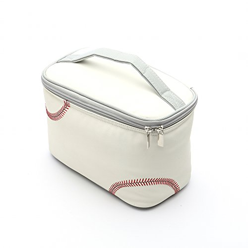 Zumer Sport Actual Ball Material Insulated Lunch Cooler Bag, Baseball White, One Size