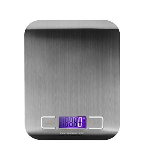 Kitchen Food Scale, NetBoat Max 11lb/5kg Digital Multifunction Stainless Steel Kitchen Scale With LED Display & Tare Function & 4 Different Measurement Units
