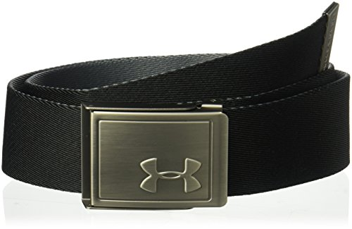 Under Armour Boys' Webbing 2.0 Belt, Black (001)/Silver, One Size by Under Armour