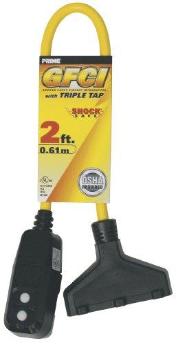 Prime GF420802 Shock Safe 2-Feet Outdoor Ground Fault Circui