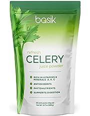 Basik Nutrition Refresh Celery Juice Powder Supplement (30 Stick Packs)