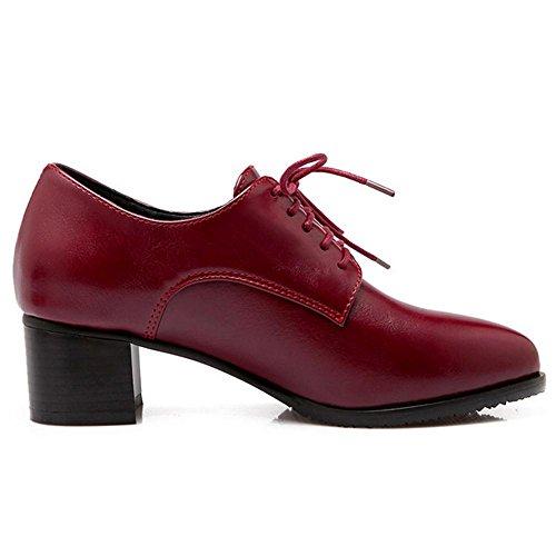 COOLCEPT Damen Mode Pumps Schnurung Red