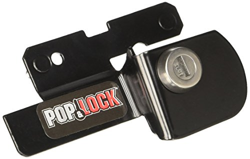 Pop & Lock PL2500 Black Manual Tailgate Lock for Ford (Works without factory (2008 F150 Camper Shell)