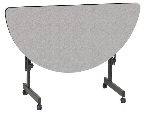 Half Top Round Folding Table (Correll FT2448HR-01 Deluxe Flip Top Table, 24