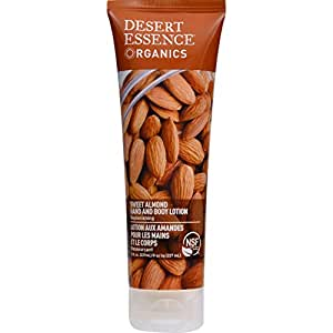 Desert Essence Hand and Body Lotion, Sweet Almond, 8 oz