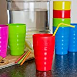 Plaskidy Kids Cups - Set of 15 Reusable Plastic