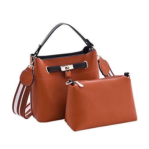 clutches Mujer hombro Shoppers Carteras y y bolsos de mano Bolsos bandolera de Amarillo qIRPTxq