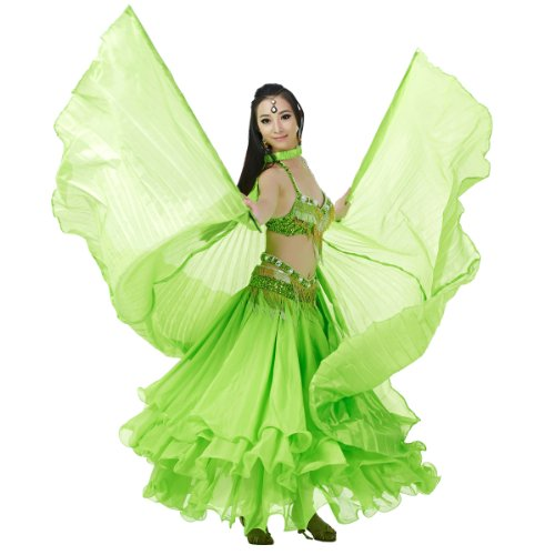Tribal Dance Costume Patterns (Dance Fairy Silk Belly Dance Isis Wings (Green))