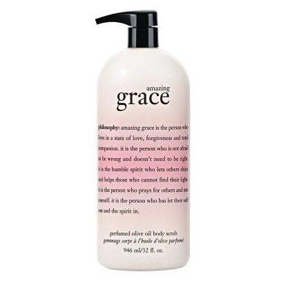 Philosophy Amazing Grace Perfumed Olive Oil Body Scrub 32 Fl. Oz Jumbo Size