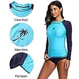 ATTRACO Rash Guard Women Long Sleeve Swim Top UV