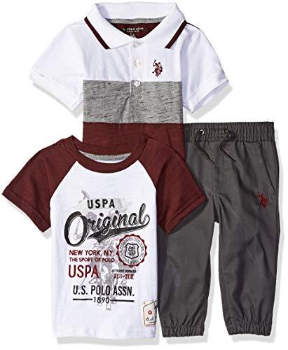35c3cde15784d U.S. Polo Assn. Baby Boys Polo, T-Shirt Pant Set, Orginal USPA
