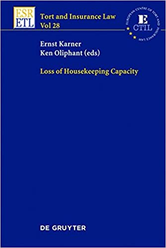 Download online Loss of Housekeeping Capacity (Tort and Insurance Law) PDF, azw (Kindle)