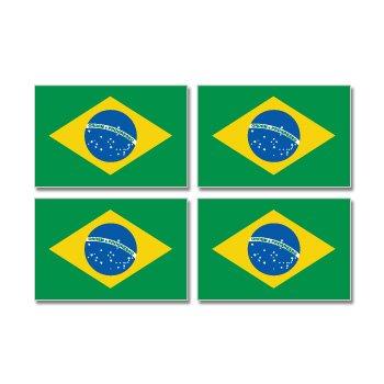 Brazil Brazilian Country Flag Stickers
