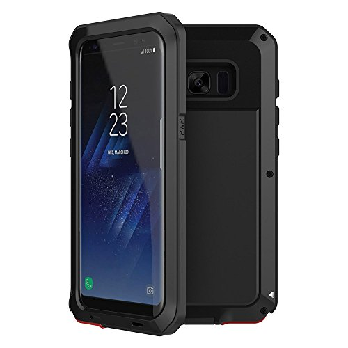 Armor Metal Hybrid (Galaxy S8 Plus case,Tomplus Extreme Hybrid Armor Alloy Aluminum Metal Bumper Soft Rubber Military Heavy Duty Shockproof Hard Case For Samsung Galaxy S8 plus (Black))