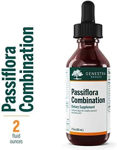Genestra Brands - Passiflora Combination - Passionflower, Hops, Skullcap, American Basswood and St. John's Wort - 2 fl oz (60 ml)