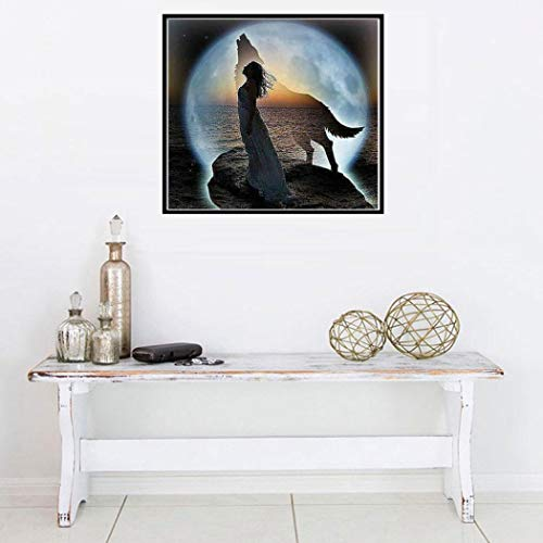 Weardear DIY 5D Full Drill Diamond Painting Kits, Diamond Cross Stitch Embroidery Pictures for DIY Home Art Craft Painting Wall Sticker Decoration by Weardear (Image #3)