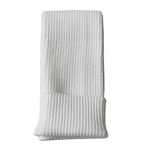 Arm Cashmere - Share Maison Women's Winter Fingerless Stretchy Cashmere Wool Gloves Long Arm Warmers Fashion Sleeves (28-white)