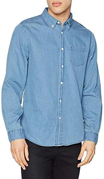 Springfield Frq Plain Denim Camisa Casual para Hombre