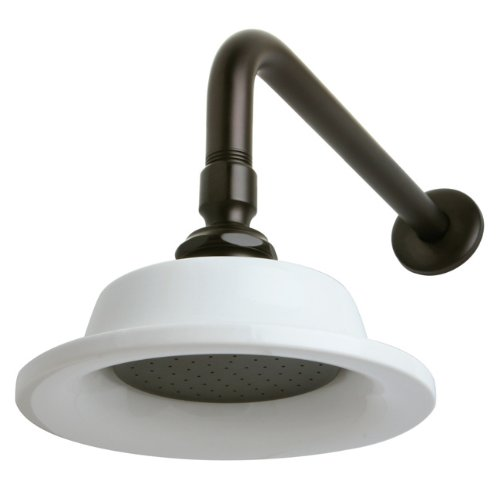 Kingston Brass P60ORBCK Victorian Sunflower Showerhead with 12-inch Shower Arm, Oil Rubbed Bronze