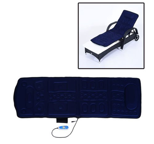New MTN-G 10 Motor Full Body Massage Mat Vibrating Cushion Heat Magnetic Therapy Relief-blue