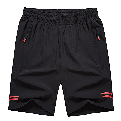 karmary Mens Shorts Casual Athletic with Pocket Loose Workout Running Shorts Elastic Waist Breathable