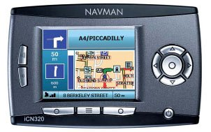 Navman ICN-320 - UK GPS Navigation System Navman USA Inc. iCN 320 iCN320 pda handheld hand held accessories