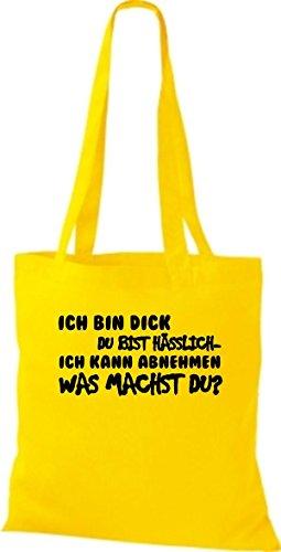 jaune pour fourre sac tout Shirtstown femme Jaune BqCYx8PvR