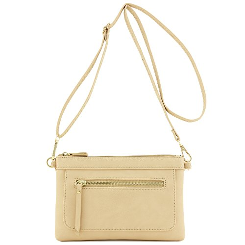 Multi-functional Wristlet Clutch and Crossbody Bag (Nude) by FashionPuzzle