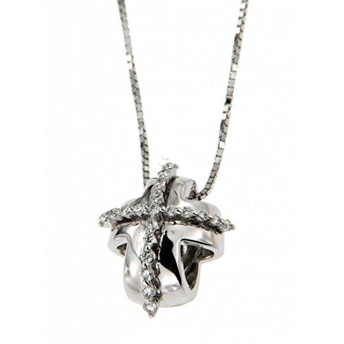 Pendentif Recarlo LUCREZIA zt339 % 2F2b Or Blanc Diamant