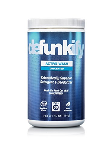 Defunkify ACTIVE WASH Laundry Detergent - Soap for Activewear, High Tech, Synthetic Clothing, and all your other Laundry. Removes Odors and Stains from Sportswear. 40 oz. (56 Loads), 0.36 per Load