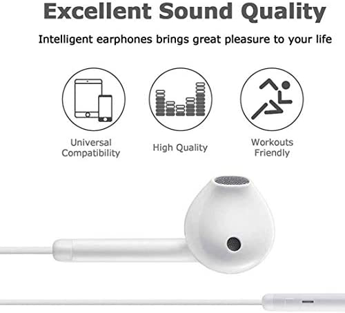 [Apple MFi Certified] Apple Earbuds with Lightning Connector(Built-in Microphone & Volume Control) In-Ear Stereo Headphones Headset Compatible with iPhone SE/11/XR/XS/7/7 Plus/8/8Plus – All iOS System 41W4YsKdpbL