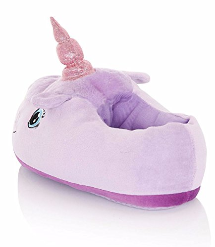 Peluche Lilla Unicorno Character Pantofole Animal Girls Ladies Or 3d Luxury Novelty xwqan1Z01