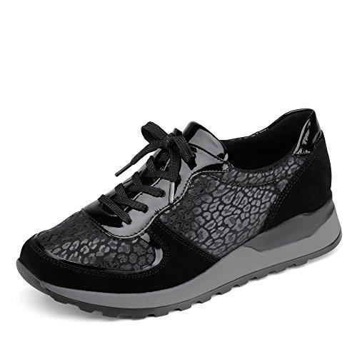 Womens Waldläufer Shoe Nero up Lace Hiroko H64001405001 wn1nqRvz