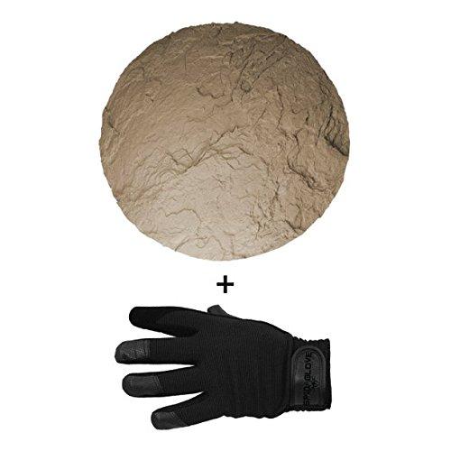 (SpidaStamp & SpidaGlove | Concrete Texturing System for Stepping Stones, Landscape Edging, or Decorative Concrete. (Death Valley Floor))