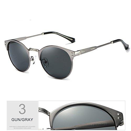 Sol Negro Guía Plata De GRAY RED Proteger De De Gafas Aluminio Uv400 Hombre Gris Sol Polarizadas TIANLIANG04 Gafas Gafas EwSaqHZ