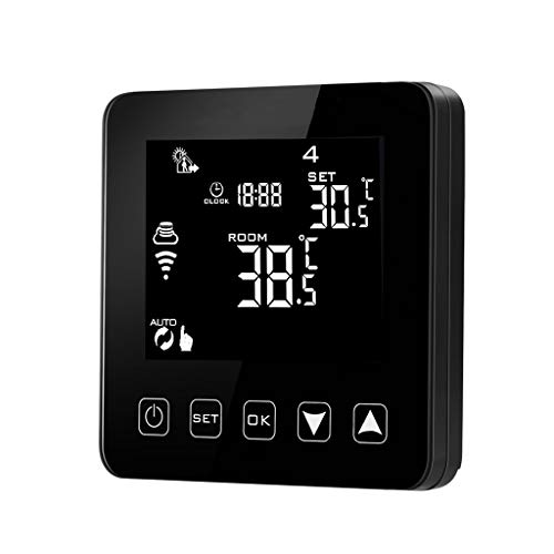 Yuayan WiFi Programmable Thermostat Echo Alexa Voice Control Electric Floor Heating Room Temperature Control 16A 100-240V
