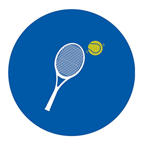 (MAGJUCHE Tennis Stickers, Navy Boy or Girl Tennis Ball Themed Baby Shower or Birthday Party Favor Sticker Labels, 2 Inch, 40-Pack)