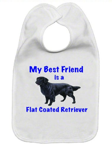 My Best Friend is Flat Coated Retriever Baby Bib ()