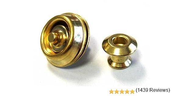 Jim Dunlop straplock doble diseño Set – oro: Amazon.es ...