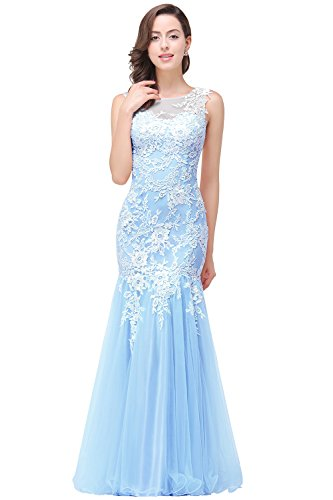 cee92d4cb1d Babyonline Pink Lace Mermaid Evening Gowns Sheer Backless Long Formal Dress