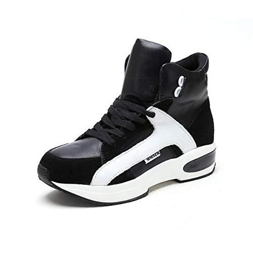 Pigskin ZHZNVX piatto Bianco Estate donna Comfort Primavera Sneakers Scarpe Red chiusa da Nero Tacco Rosso Punta rRngw7tR