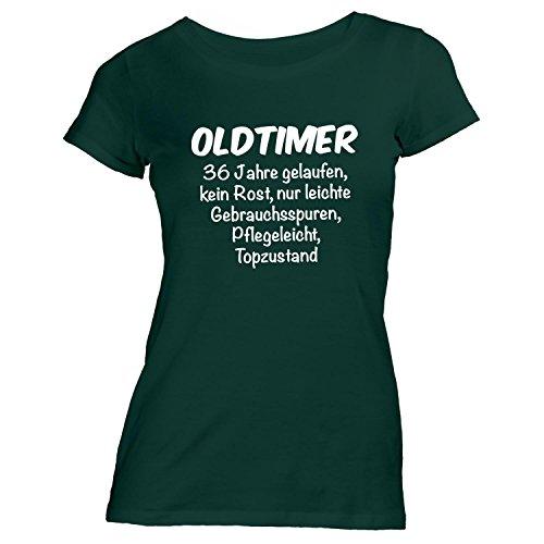Monkiez Damen T-Shirt - Oldtimer Geburtstag 36 Jahre - Birthday 36 years Fun Geschenkidee Grün