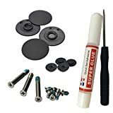 """Bottom Case Rubber Feet Outer Inner Feet Bottom Case Screw for MacBook Pro A1278 A1286 A1297 13"""" 15"""" 17"""" Full Kit Set With Screwdriver Super Glue"""