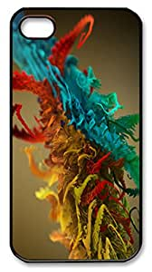 Plant Abstract PC Case Cover for iPhone 4 and iPhone 4s ¨CBlack