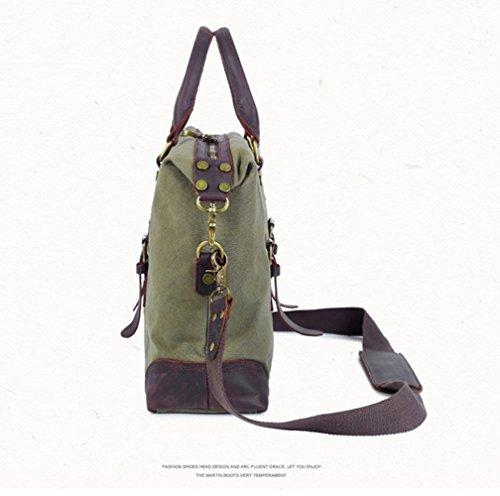 MIMI KING Messenger Bags Laptoptasche Canvas Wear Resistant Licht Soft Fashion Casual Handtasche ArmyGreen