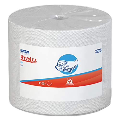 WypAll 35015 X50 Cloths, Jumbo Roll, 9 4/5 x 13 2/5, White, 1100/Roll from Wypall