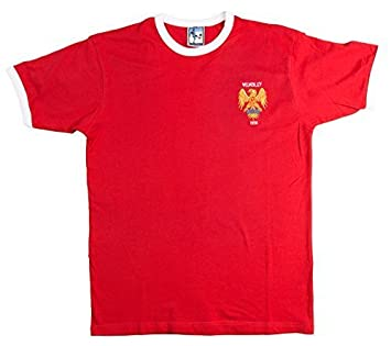 Old School Football Manchester United 1958 F.A. Final Copa camiseta de Fútbol - Rojo, Extra Grande: Amazon.es: Ropa y accesorios