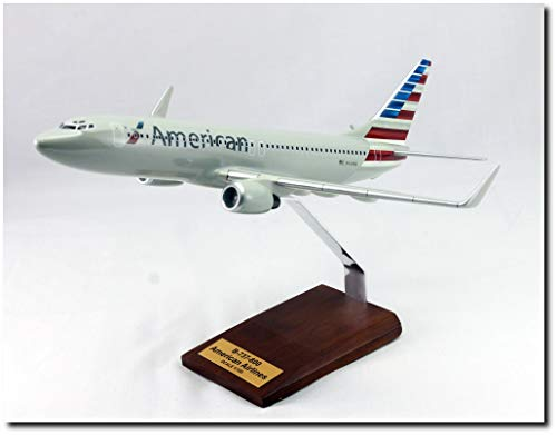Planejunkie Aviation Desktop Model - B-737 American Airlines Wood ()