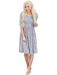 Emmy Modest Lace Dress, Modest Semi-Formal Modest Bridesmaid Dress
